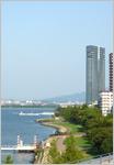びわ湖ホールからの眺め。